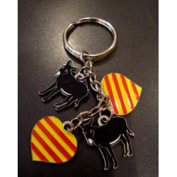 clauer charm's burros catalans i cors amb la senyera