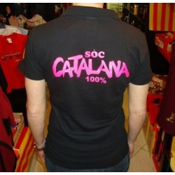 Polo tee-shirt woman soc catalana 100%