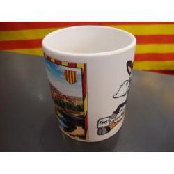 Tassa gran amb el burro català i la bandera catalana