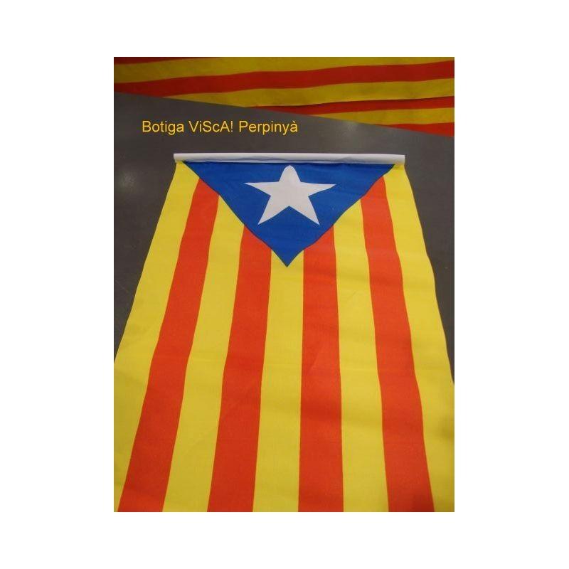 Drapeau catalan avec l'Estelada blava (30cmx45cm)