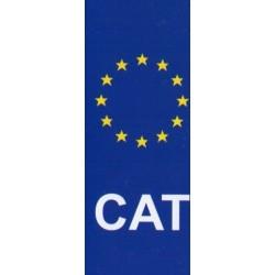 Adhesiu per la matricula amb el CAT