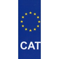Autocollant immatriculation CAT
