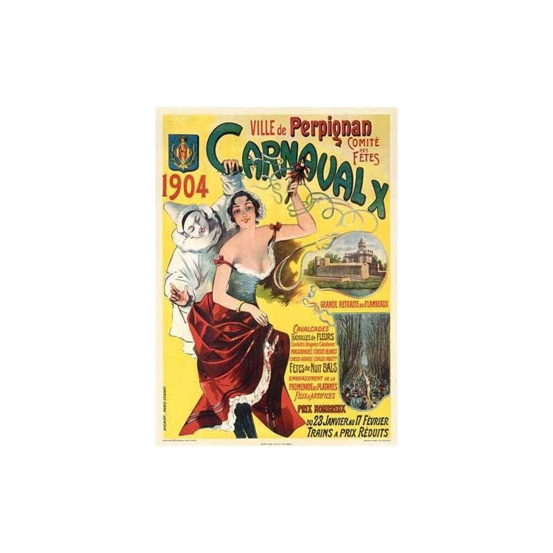 cartell carnestoltes de Perpinyà 1904