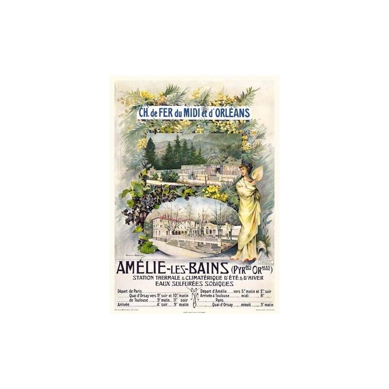 Affiche ancienne Amélie les bains