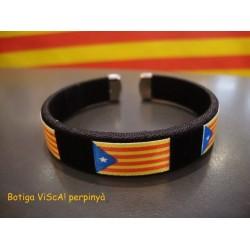 Bracelet noir estelada drapeau indépendantiste catalan