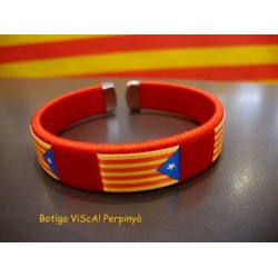 Bracelet red with estelada independence catalan flag