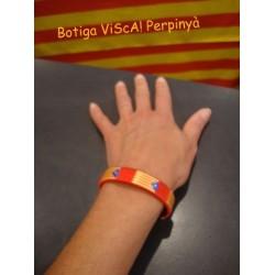 Bracelet red with estelada independence catalan flag