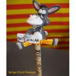 Crayon gris avec l'âne catalan
