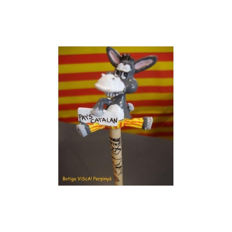 Pencil with catalan donkey