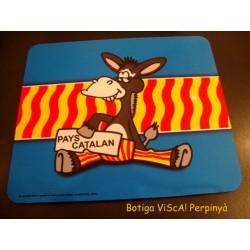 Catifa per a ratolí d'ordinador  Pais Català amb el burro dibuixat
