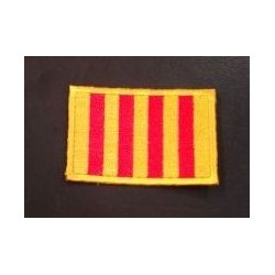 Embroidered badge hot-melt Catalan flag