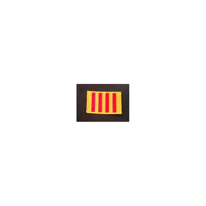 Ecusson drapeau catalan thermocollant
