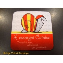 Sous verres de l'escargot catalan