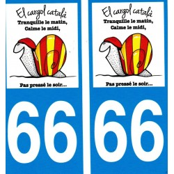 stickers (2) for the car with the catalan snail