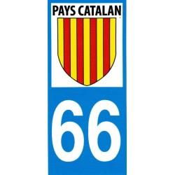 Adhesiu matrícula amb l'escut català