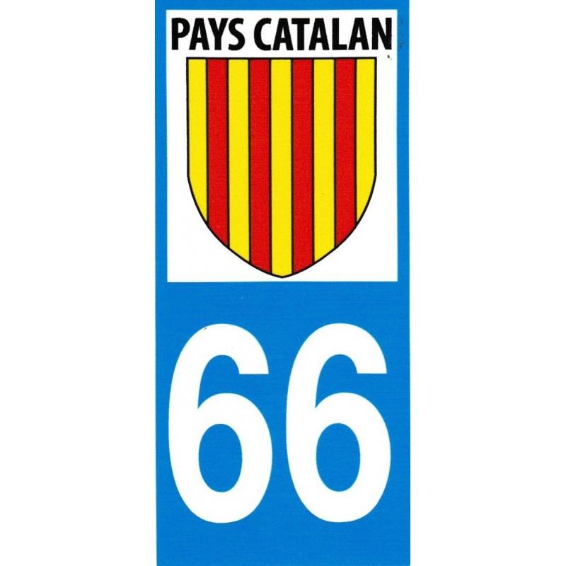 Autocollant immatriculation avec le blason catalan