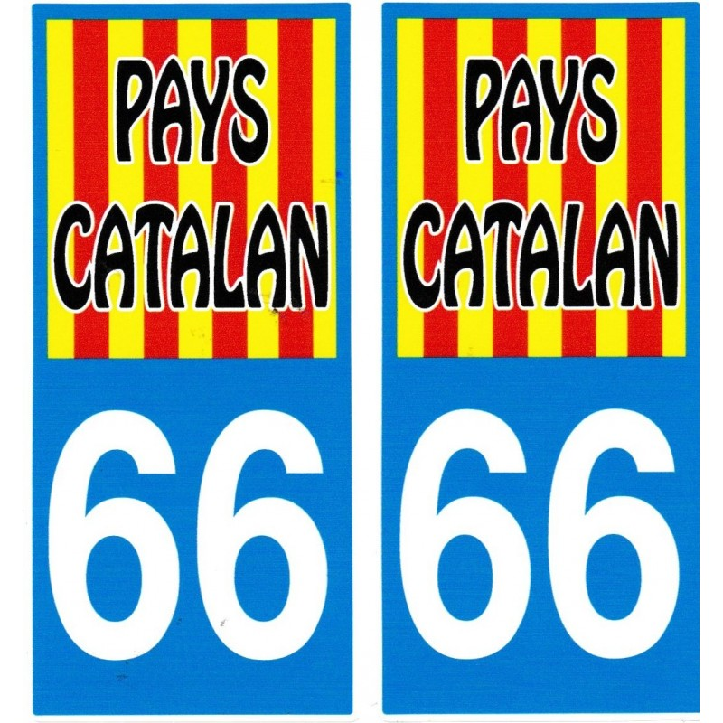 stickers (2) for the car Pays catalan with the catalan flag