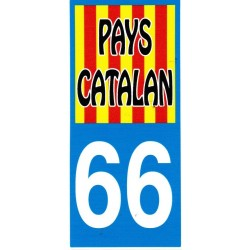 Sticker Catalonia flag 66 Pays Catalan