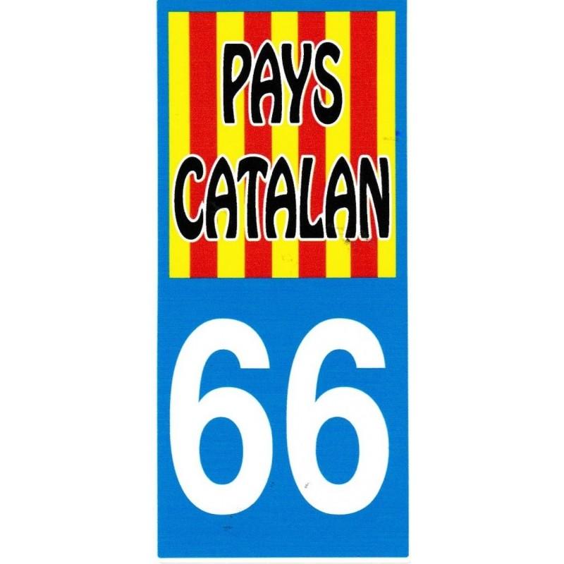 Sticker Catalonia flag 66 Pays Catalan