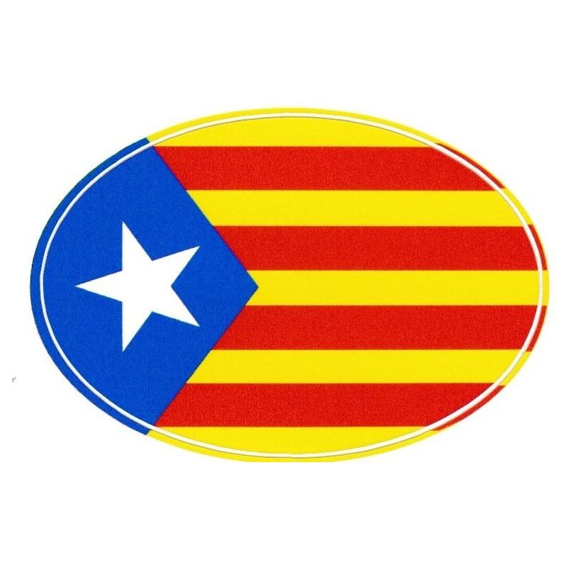 Autocollant drapeau catalan estelada blava