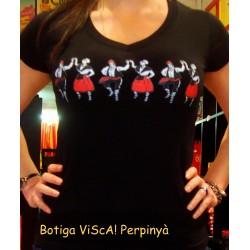 Tee-shirt girl black  sardane