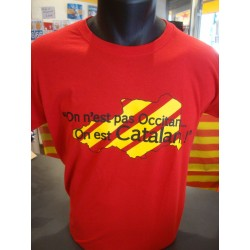 "Tee-shirt adult ""On n""est pas occitan on est catalan"" des AL CHEMIST"
