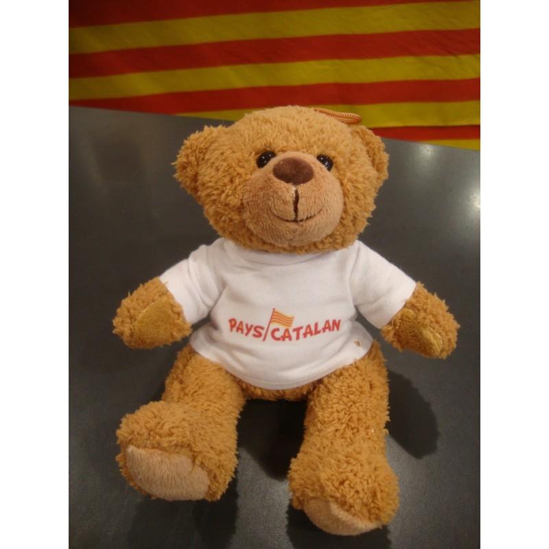 Peluche ourson brun avec tee-shirt Pays catalan