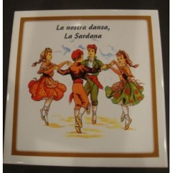 Trivet catalans with catalan dance
