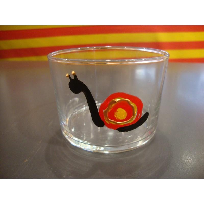 Verre à bodega avec l'escargot catalan
