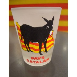 Verre à liqueur âne catalan