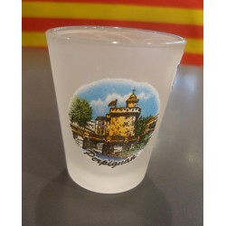 glass for licor with catalans anchovy