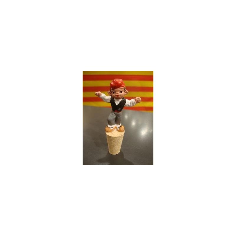 Bouchon bouteille de vin avec un catalan