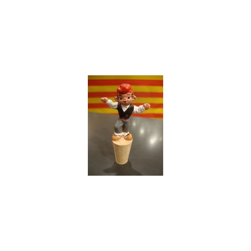 Tap ampolla de vi amb un català