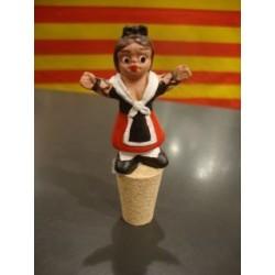 Bouchon bouteille de vin avec une catalane