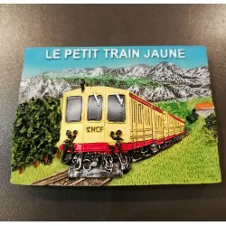 Magnet le petit train jaune en relief