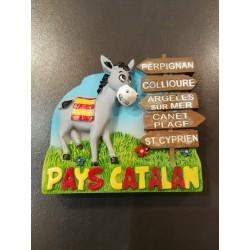Magnet de l'âne catalan gris pancartes du  Pays catalan