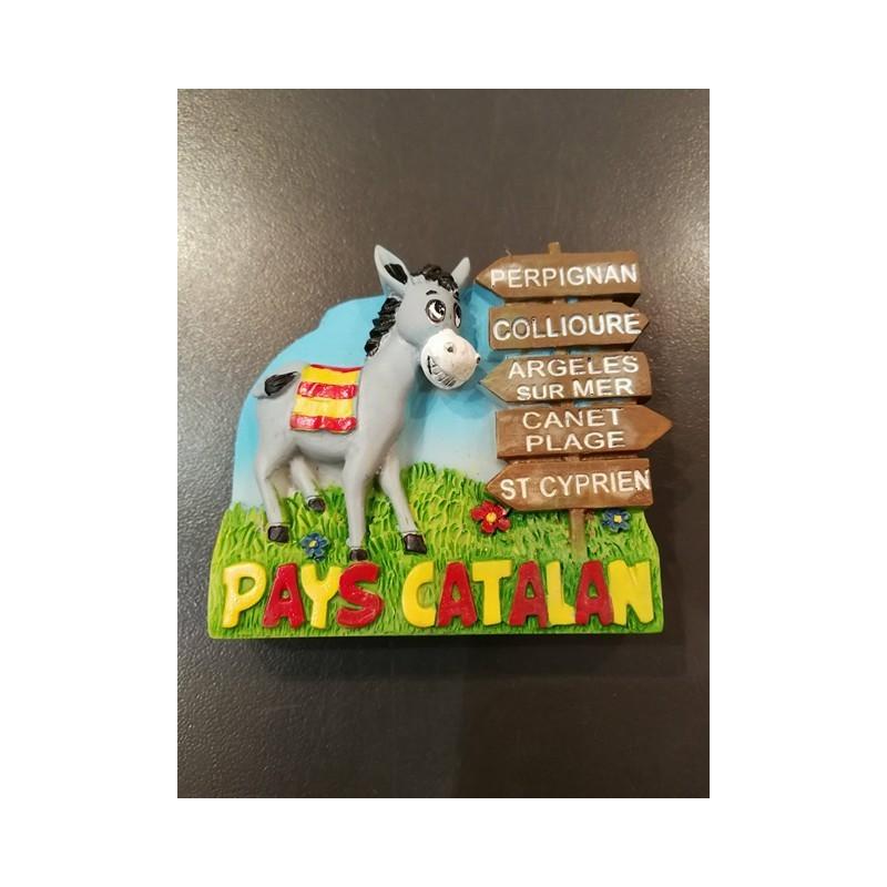 Magnet catalan donkey grey Pays catalan