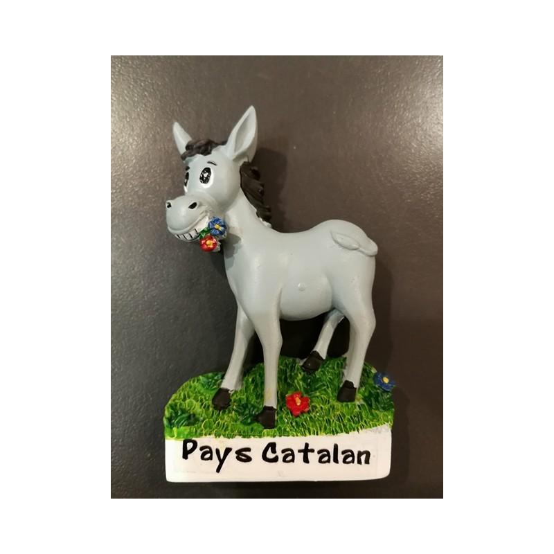 Magnet catalan donkey grey