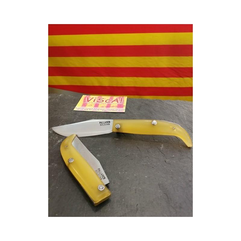 Ganivet català fulla 8cm Ripollès Pallarès mànec de silicona