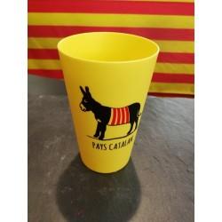 Verre en plastique avec l'âne et l'escargot catalan