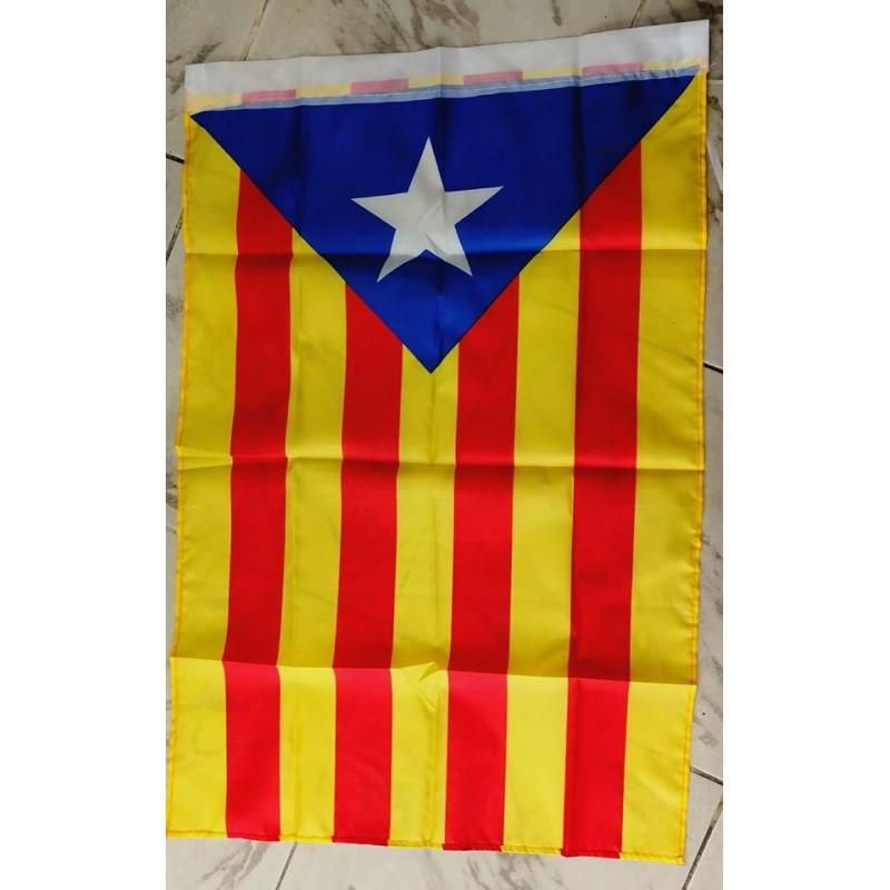 Drapeau indépendantiste catalan avec l'Estelada 60x90cm
