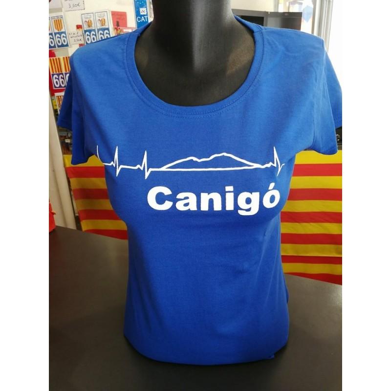 Tee-shirt  femme  Canigó pulsations bleu