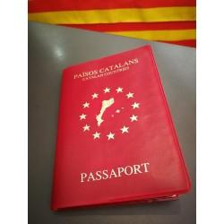 """Etui souple pour passeport  """"Països catalans"""""""