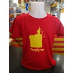 Tee-shirt enfant Le castillet Perpignan