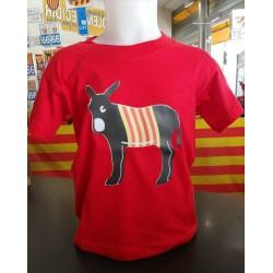 Samarreta vermella amb el burro català