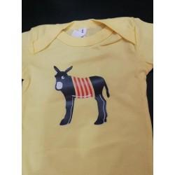 Body jaune avec l'âne catalan