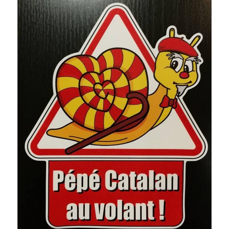 Autocollant Pépé catalan au volant