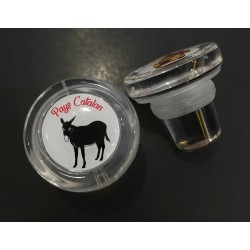 Bouchon en verre avec l'âne catalan