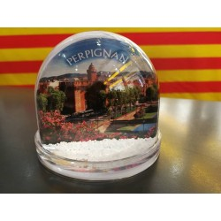 Snow ball of Perpignan city