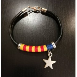 Bracelet black with estelada independence catalan flag